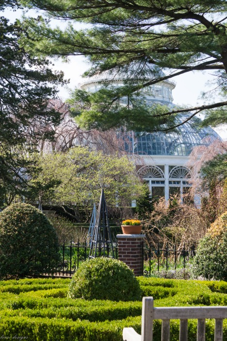 Enid Haupt Conservatory from Luce Garden